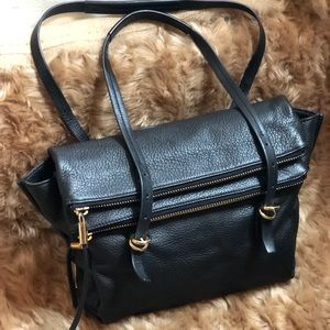 Vince Camuto Double Zip Real Leather Purse